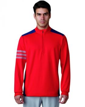 ADIDAS COMPETITION QUARTER ZIP GOLF SWEATER - SCARLET/DARK SLATE