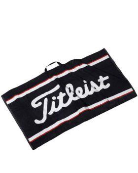 TITLEIST STAFF TOWEL BLACK W/ RED