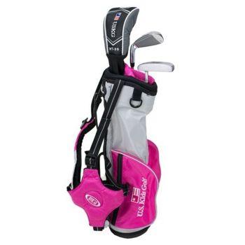 Us Kids Golf UL39-U 3 Club All Graphite Carry Set Right Hand - Pink