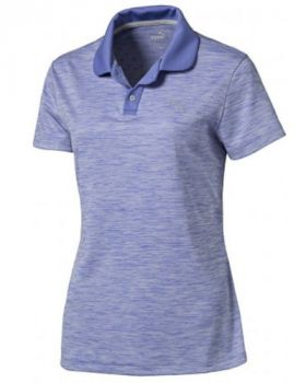 Puma Women's Tuck Stitch Golf Polo - Baja Blue