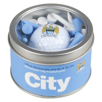 MANCHESTER CITY GOLF BALL AND TEE SET