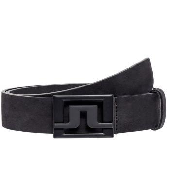 J.Lindeberg Slater 40 Brushed Leather Belt - Black