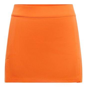 J.Lindeberg Women's Amelie Golf Skirt - Tiger Orange - FW21