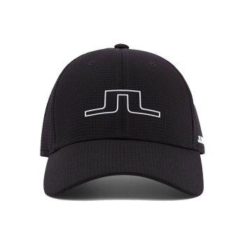 J.Lindeberg Men's Caden Golf Cap - Black - FW21