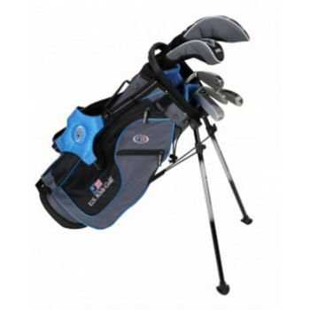 Us Kids Golf UL48-S 7 Club DV-2 All Graphite Carry Set Right Hand - Grey / Teal