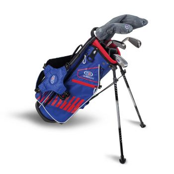 Us Kids Golf Ul51-S 5 Club All Graphite Stand Set Right Hand - Red/Blue/White