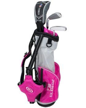 Us Kids Golf Ul39-U 3 Club All Graph Carry Set Left Hand - Pink