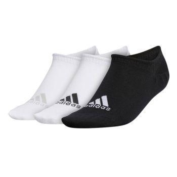 Adidas Women's No-Show Liner Socks 3 Pairs - White / Black