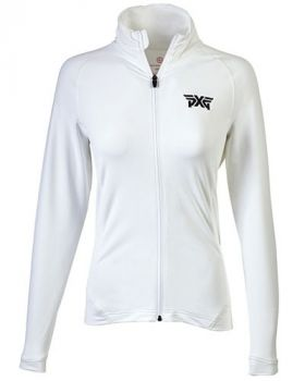 PXG Women's Peter Millar Full Zip Jacket - White