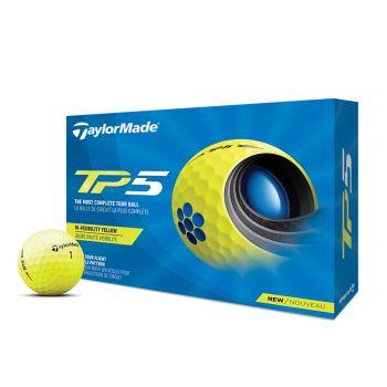TaylorMade 2021 TP5 Golf Balls 1 Dozen - Yellow