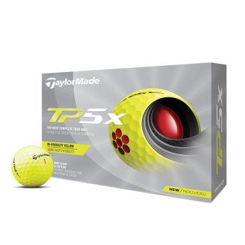 TaylorMade 2021 TP5x Golf Balls 1 Dozen - Yellow