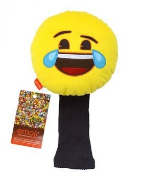 LAUGHING EMOJI GOLF HEAD COVER FACE