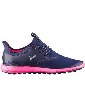 Puma Women's Ignite SL Sport Golf Shoes - Peacoat/Silver/Pink