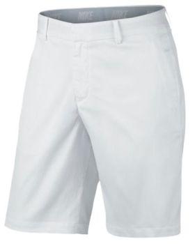 NIKE FLAT FRONT SHORT - WHITE