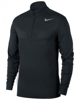 NIKE DRI-FIT 1/2 ZIP GOLF TOP - BLACK
