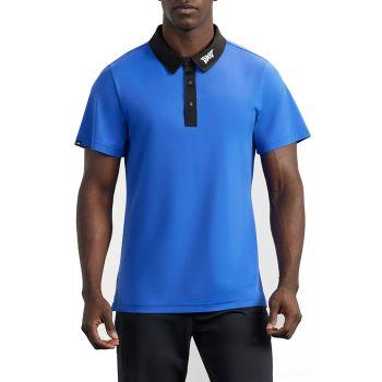 PXG Men's Collar Block  Polo - Blue