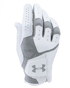 UNDER ARMOUR COOLSWITCH GOLF GLOVES RIGHT HAND (FOR THE LEFT HANDED GOLFER) - WHITE/STEEL