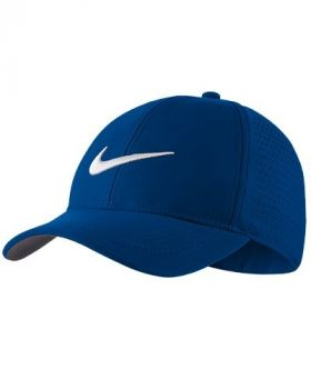 NIKE LEGACY 91 PERFORATED ADJUSTABLE GOLF HAT - PARAMOUNT BLUE