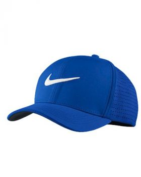 NIKE CLASSIC 99 FITTED GOLF HAT - PARAMOUNT BLUE/WHITE
