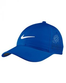NIKE WOMEN'S PERFORATED ADJUSTABLE GOLF HAT - PARAMOUNT BLUE