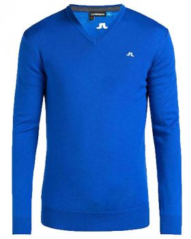J. LINDEBERG LYMANN TOUR MERINO KNITTED PULLOVER JACKET - STRONG BLUE