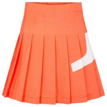 J.Lindeberg Women's Naomi Bridge Golf Skirt - Tiger Orange - FW21