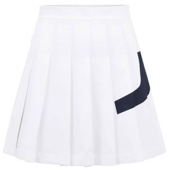 J.Lindeberg Women's Naomi Bridge Golf Skirt - White - FW21