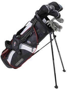 Us Kids Golf Ts51-V10b 10 Club Stand Set All Graphite Shafts - Black/White/Red