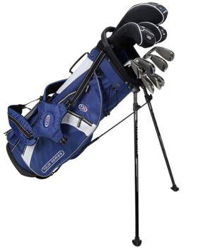 Us Kids Golf Ts54-V10b 10 Club Stand Set Graphite Shafts - Navy/White/Silver