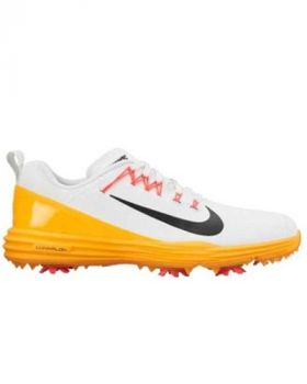 Nike Women's Lunar Command Golf Shoes - White/Black/Laser Orange