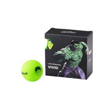 Volvik Marvel Golf Balls 4 Pack - Hulk