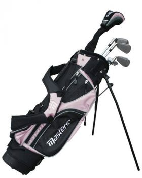 MASTERS GOLF JUNIOR 520 HALF SET - GIRLS AGE 6-8 -PINK
