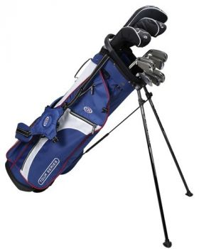 Us Kids Golf Ts63-V5b 10 Club Stand Set All Graphite Shafts Left Hand - Navy/White/Red