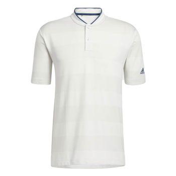 Adidas Men's Primeknit Polo Shirt - White / Grey One