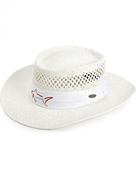 GREG NORMAN STRAW HAT WHITE