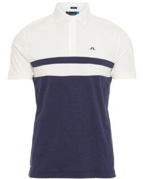 J.Lindeberg M Bevin Reg Cotton Poly Polo Shirt - Navy Melange