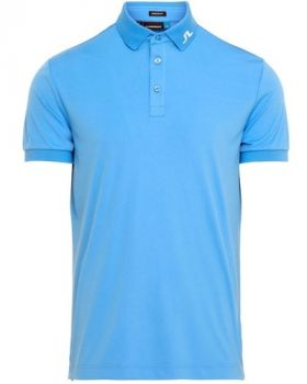 J.Lindeberg M Clay Reg Fit Tx Jersey Polo Shirt - Silent Blue Print