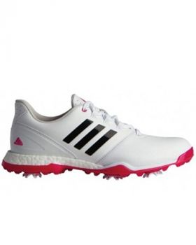Adidas Womens Adipower Boost 3 Golf Shoes - White/Pink/Black