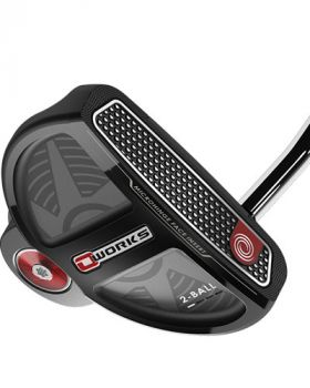 """Odyssey O-Works 2-Ball 34"""" Putter With Superstroke"""