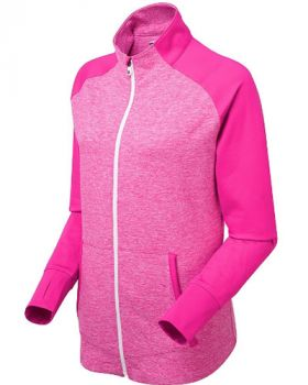 FOOTJOY WOMEN'S FULL ZIP BRUSHED CHILLOUT JACKET - DYE BERRY