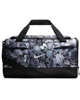 Nike Floral Print Sport Holdall Bag- Anthracite