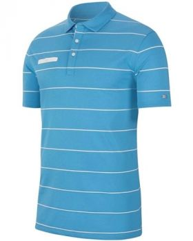 Nike Dri-FIT Player Striped Golf Polo - LT Photo Blue/ Sail/ White/ Brushed Silver