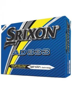 Srixon Ad333 Tour Yellow Golf Balls