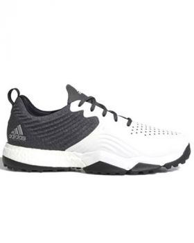 Adidas Adipower 4orged S Wide Golf Shoes - Core Black / Cloud White / Silver Metallic