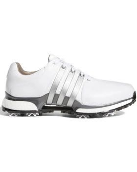 Adidas Tour 360 XT Golf Shoes - Cloud White/Silver Metallic/Dark Silver Metallic
