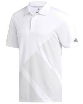 Adidas Bold 3-Stripes Polo Shirt - White/Grey