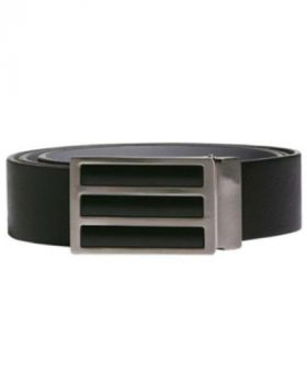 Adidas 3-Stripes Solid Reversible Belt - Black/Grey Three