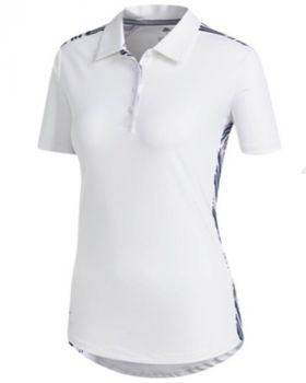 Adidas Women's Novelty Short Sleeve Polo Shirt - White/True Pink