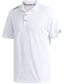 Adidas 3-Stripes Polo Shirt - White / Grey Three