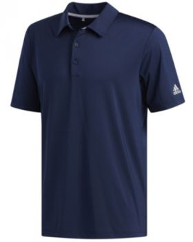 Adidas Ultimate Solid Polo Shirt - Collegiate Navy/Grey Two